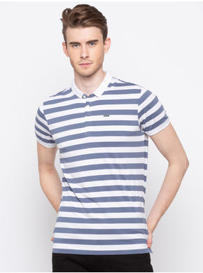 Spykar Polo Slim Fit T-Shirts, l,  dusty blue