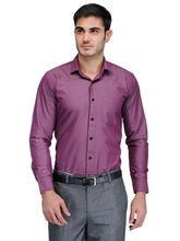 Harvest L. Purple 100% Cotton Party Wear Slim Fit Shirt For Men, 42