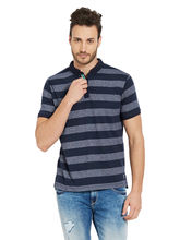 Striped Henely T-Shirt, navy, m