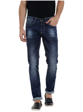 Low Rise Narrow Fit Jeans,  mid blue, 38