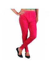 And You Pink Cotton Lycra Stylish Legging for Women, m