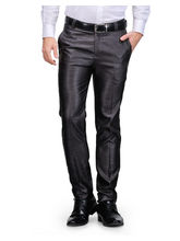 Harvest Black Poly-Viscose Trouser For Men, 34