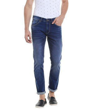Low Rise Narrow Fit Jeans, 30,  mid blue