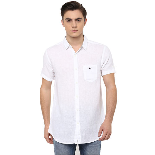 Solid Cutaway Slim Fit Shirt
