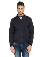 Solid Jacket In Relax Fit, navy, l
