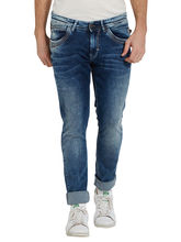 Low Rise Narrow Fit Jeans, 32, mid blue