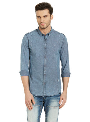 Checks Shirt In Slim Fit, s,  indigo