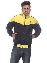 DS Polyester Regular Fit Jacket for Men (LU-JACK-56), 48, yellow and black