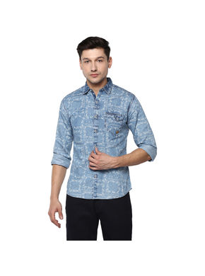 Denim Regular Shirt,  light blue, 2xl