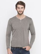 Dyed Slim Round Neck Fit T-Shirts, l, grey