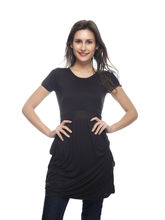 And You Black Cotton Stylish Dress for Women, m