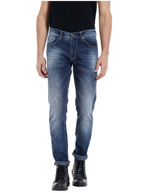 Low Rise Narrow Fit Jeans,  mid blue, 36
