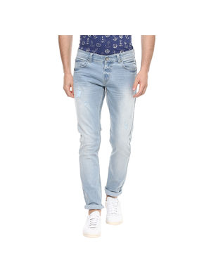Skinny Low Rise Narrow Fit Jeans,  light blue, 38