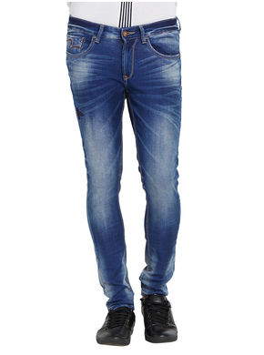 Low Rise Tight Fit Jeans,  ink blue, 32