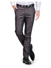 Harvest Grey Poly-Viscose Trouser For Men, 32