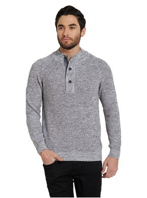 Solid Henley T-Shirt,  grey, s