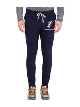 American-Elm Men's Navy Blue-White Star Printed Jogger, xxl