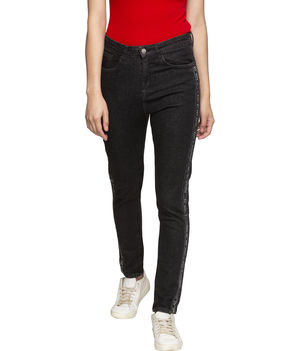Spykar High Rise Super Skinny Ankle Length Jeans,  black, 32