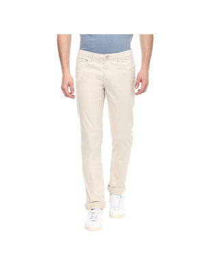 Solid Flat Front Chinos,  fawn, 34