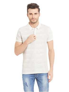Printed Polo T-Shirt, s,  white
