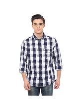 Checks Regular Shirt, m, navy