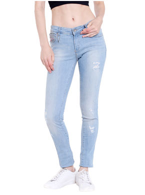 Low Rise Skinny Fit Jeans, 26,  blue