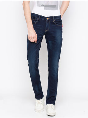 Spykar Low Rise Ultra Slim Thigh Narrow Leg Jeans, 30,  dark blue