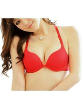 StayFit Front Clouser Heavily Padded Push Up Bra (A123red), 34b
