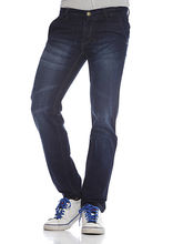 And You Black Cotton Regular Fit Jeans For Men, 30