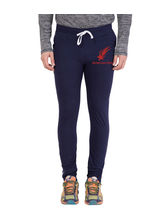 American-Elm Men's Navy Blue-Red Star Printed Trackpant For Light Workout, xl