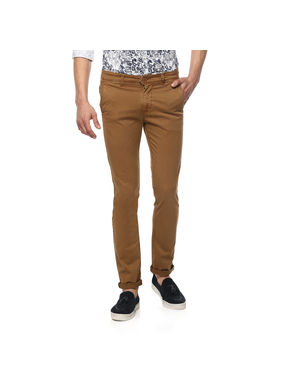 Solid Trousers,  coffee, 36