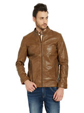 Solid Jacket In Relax Fit, tan, s