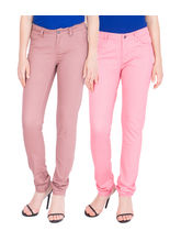 American-Elm Womens Regular Fit Multicolor Womens Jeans Pack Of 2, 30