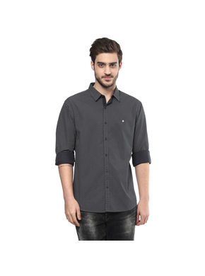 Spykar Printed Regular Shirt, s,  olive