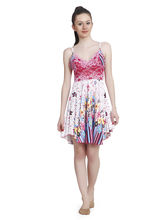 Freely Floral Printed Babydoll Dress (DN-PUML-18), pink, s