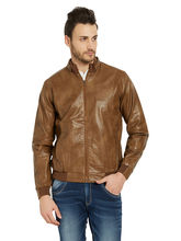 Solid Jacket In Relax Fit, tan, l