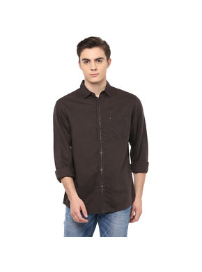 Solid Regular Shirt, s,  olive