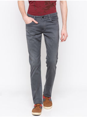 Spykar Low Rise Slim Thigh Tapered Leg Jeans,  grey, 34