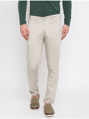 Spykar Solid Trousers, 36,  cement