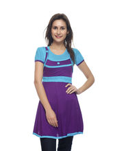 And You Purple Turk Cotton Attractive Dress for Women, m