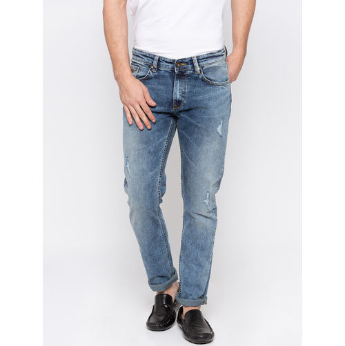Spykar Low Rise Slim Thigh Narrow Leg Jeans