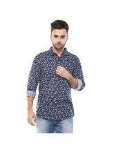Printed Regular Shirt, m, navy