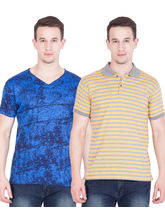 American-Elm Pack of 2 Men's Cotton Tshirts, m, multicolor