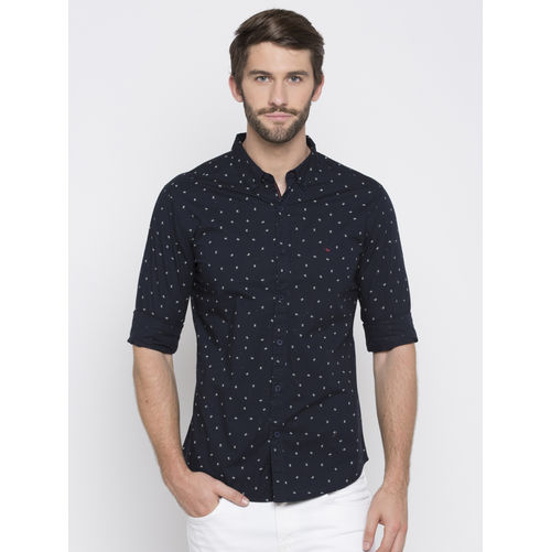 Spykar Prints Slim Fit Shirts
