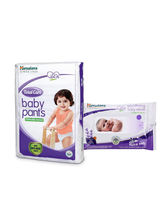 Himalaya Total Care Baby Diaper Pants-Xl 54 And Himalaya Soothing Baby Wipes 24'S