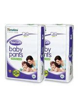 Himalaya Total Care Baby Pants Diapers-M-28'S-Pack Of 2