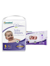 Himalaya Baby Diapers S-28 And Himalaya Soothing Baby Wipes 24'S