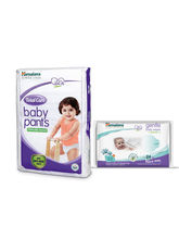 Himalaya Total Care Baby Diaper Pants-Xl 28 And Himalaya Gentle Baby Wipes 24