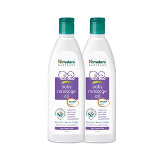 Himalaya Baby Massage Oil 200Ml-Pack Of 2