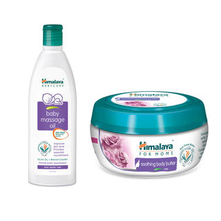 Himalaya Baby Massage Oil And Himalaya Body Butter...